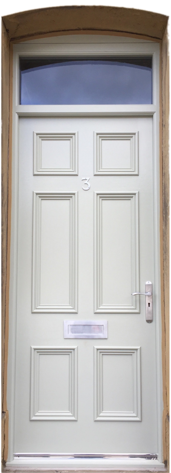 Bespoke timber door by Collins and Hall